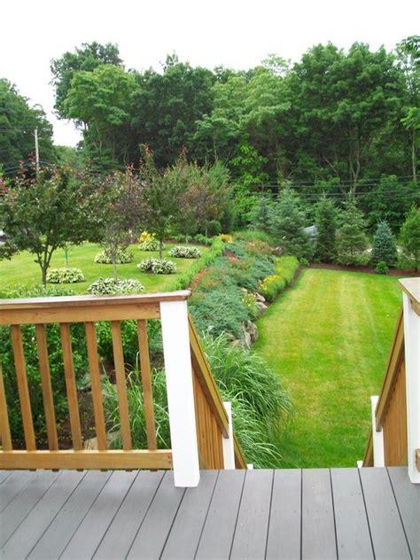 o brien landscaping garden landscape in plainville stacked boulders two tier backyard by jonathan o brien