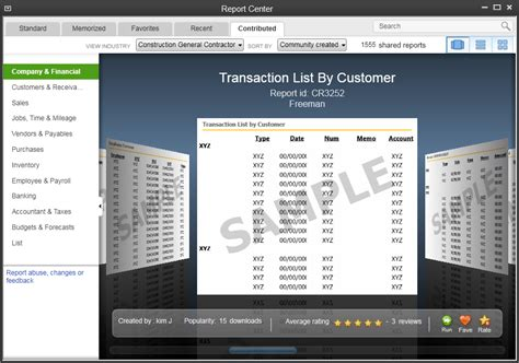 quickbooks report templates quickbooks desktop enterprise