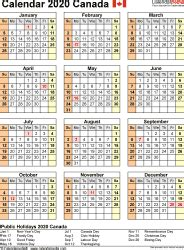 canada calendar   printable  templates