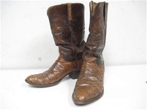 anteater boots size 10 lucchese anteater skin cowboy boots ebay