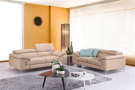 italian living room set a973 peanut italian leather living room set from j m