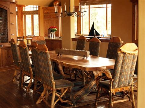 Rustic Dining Room Set Juniper Tables Artistic Table