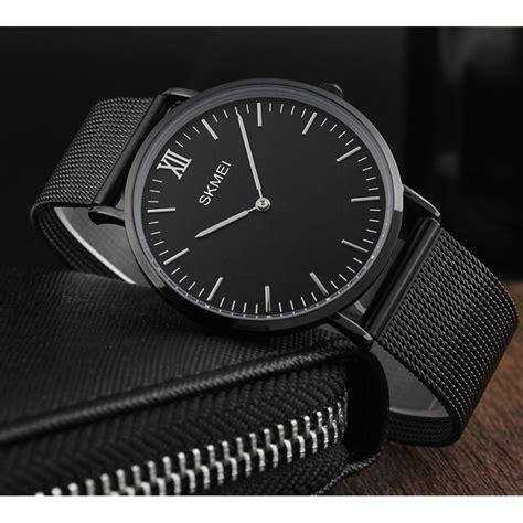 Jam Tangan Pria Premium Quiksilver skmei jam tangan pria milanese premium stainless steel 1182 black jakartanotebook