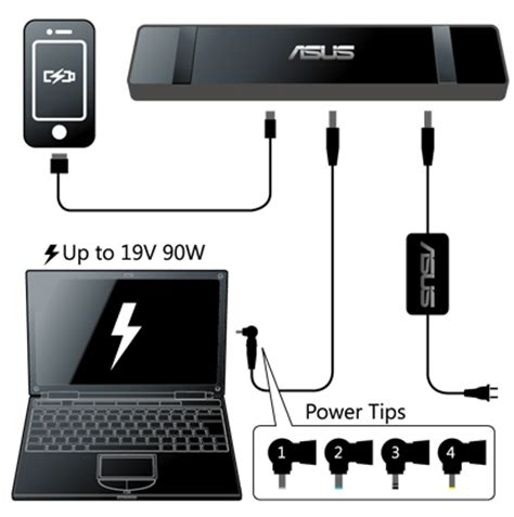 asus usb3.0 hz 3a docking station | laptop accessories