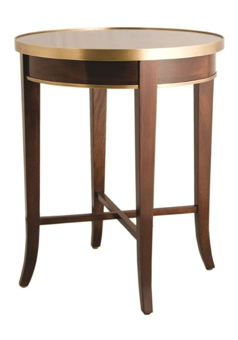 Brass Table Ls For Bedroom by F113 Cherrywood Side Table With Brass Trim