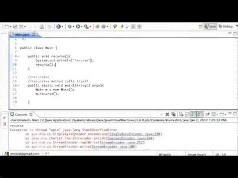 tutorial java method java recursion a recursive method tutorial youtube