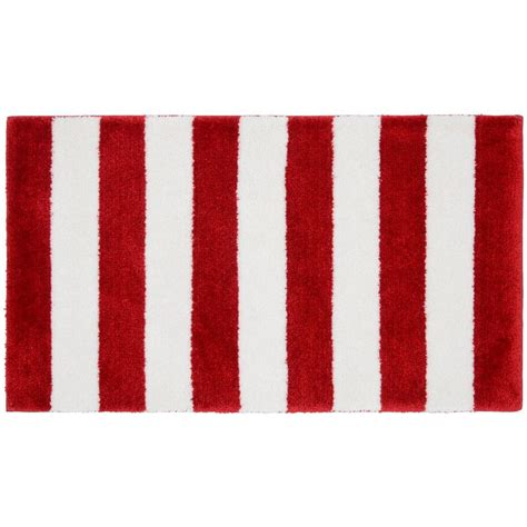 red bathroom rug home decorators collection captiva aluminum 21 in x 34 in