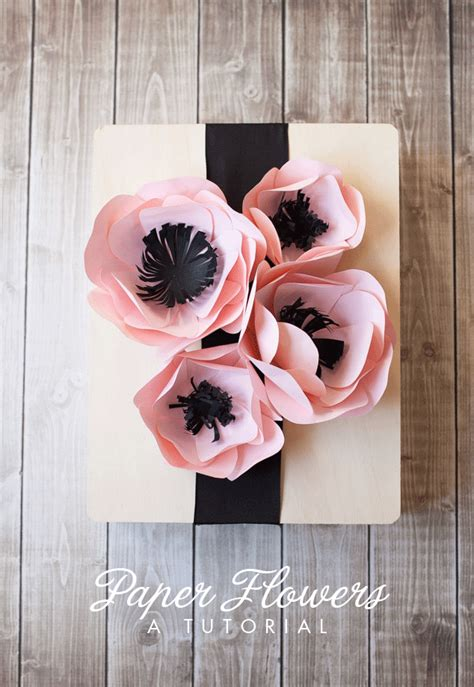 How To Make Wrapping Paper Flowers - 21 diy flower decoration ideas the craftables