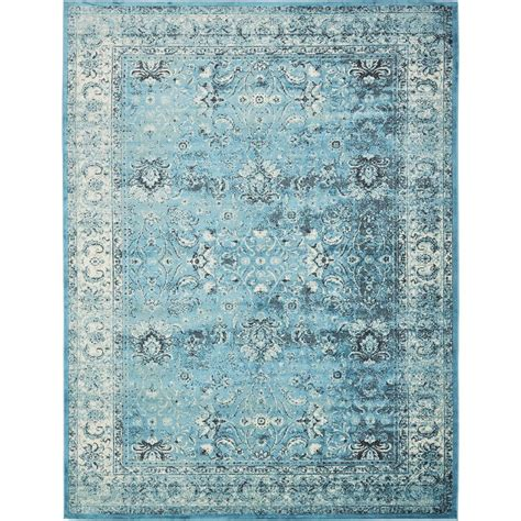 10 x 13 blue ivory rug unique loom istanbul blue and ivory 10 ft x 13 ft area