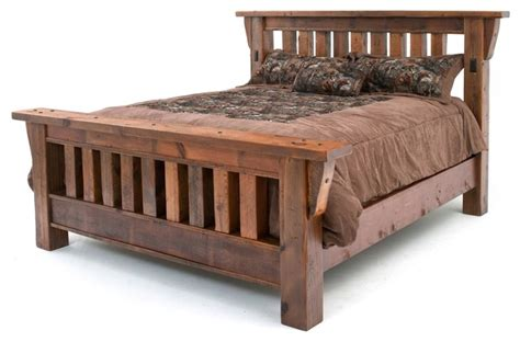 King Size Mission Bedroom Sets Barnwood Mission Bed Rustic Bedroom Products By