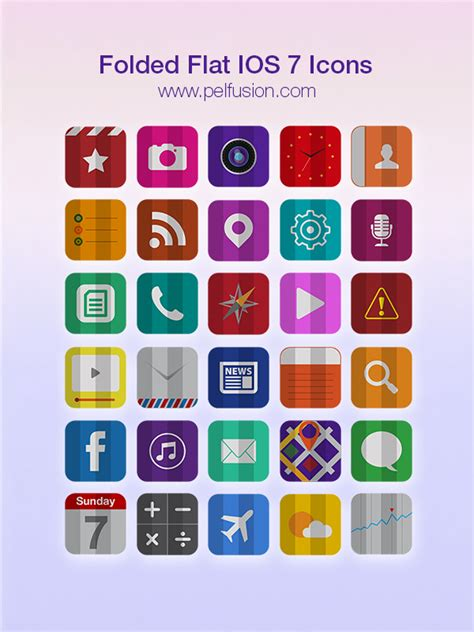 how to get the flat ui ios 7 instagram app on android free 30 folded flat ios 7 icons titanui
