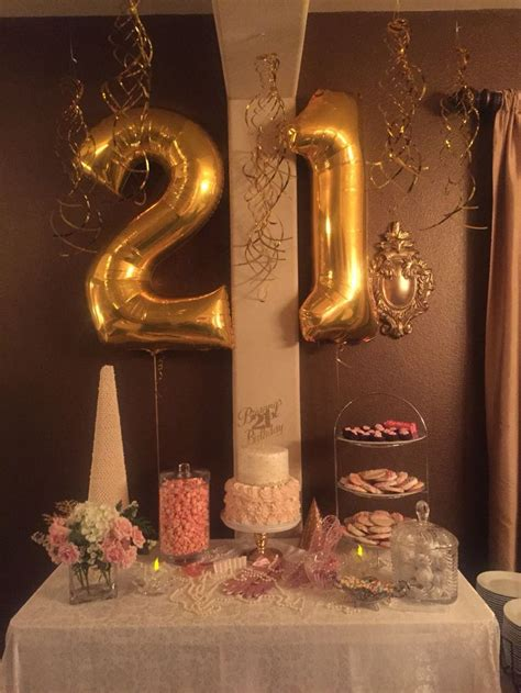 21st Birthday Decoration Ideas by 21st Birthday Decorations Black And Gold Image