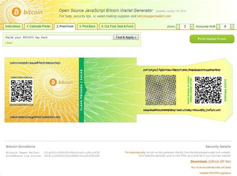 bitcoin paper wallet bitcoin generator online why litecoin