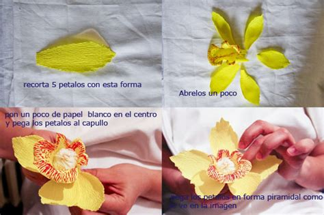 orquidea de papel crepe orqu 237 dea de papel manualidades faciles