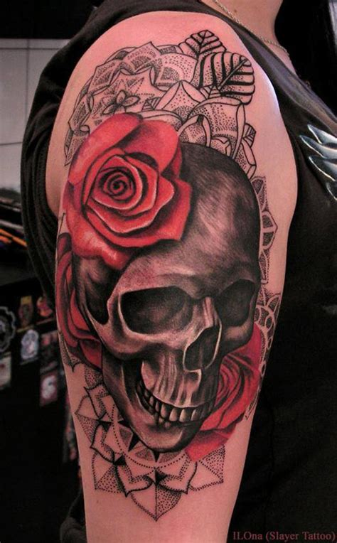tattoo design rose and skull 100 awesome skull tattoo designs tattoo designs tattoo