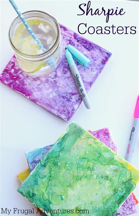 crafts sharpie sharpie dyed coasters children s craft my frugal