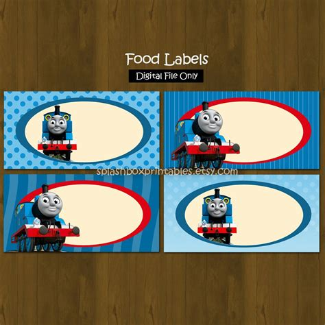 printable train stickers thomas the train birthday party printable food labels or