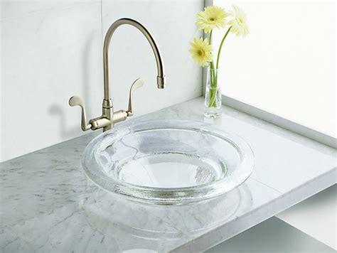 bathroom sink material comparison k 2276 spun glass countertop sink kohler