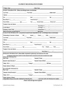 Free Patient Information Form Template by Patient Registration Form 1 Free Templates In Pdf Word