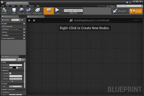 blueprint editor widget blueprints engine
