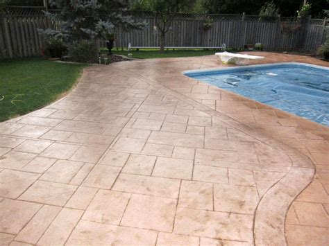 Best Concrete Sealer For Patio by Toronto Driveway Sealing And Patterned Coloured Concrete