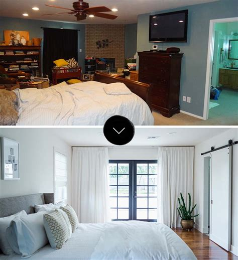 before after a makeover design before after a master bed bath makeover design