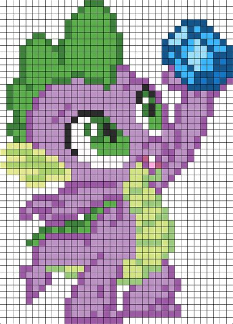 bead my spike with lunch perler bead pattern bead sprite my
