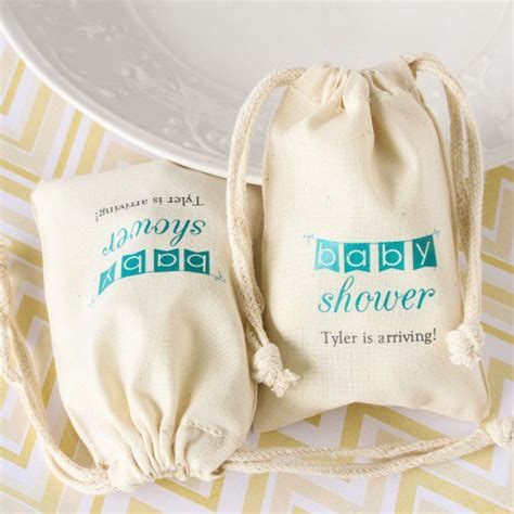 Cotton Baby Shower Favors by Cotton Baby Shower Favor Bag Teal Baby Shower