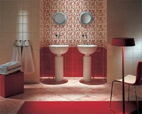 red tile bathroom modern wall tiles in red colors creating stunning bathroom