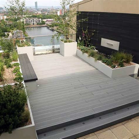 gray deck composite deck board grey 143x23mm 3 6m hollow ashley