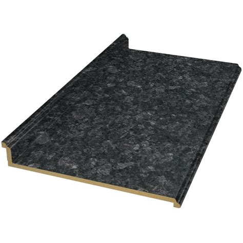 Lowes Kitchen Countertops Laminate Shop Vt Dimensions Formica 10 Ft Midnight Etchings Laminate Kitchen Countertop At