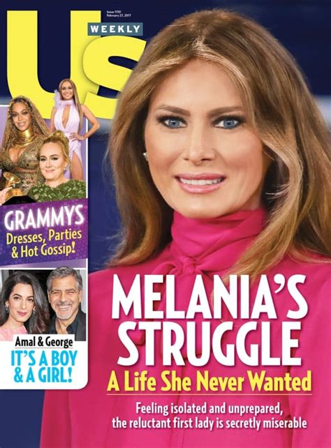 Us Weekly Goes Bald On This Weeks Cover by Melania Miserable As The Gossip