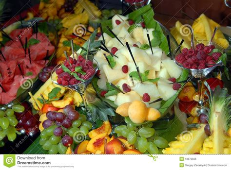 Fruit On A Buffet Table Stock Photo Image Of Berries Pineapple Buffet L