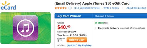 10 Itunes Gift Card Walmart - walmart selling 50 itunes gift card for 40 cnet