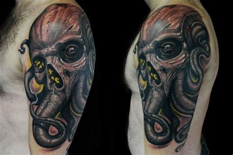 skull octopus tattoo tons of octopus designs to your mind
