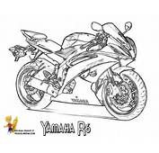 R6 Yamaha Colouring Pages