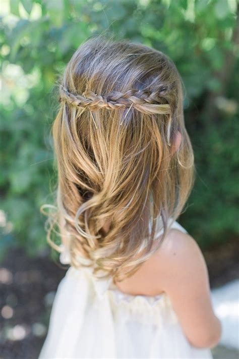 flower girl braided hairstyles for weddings best 25 flower girl hairstyles ideas on pinterest girl