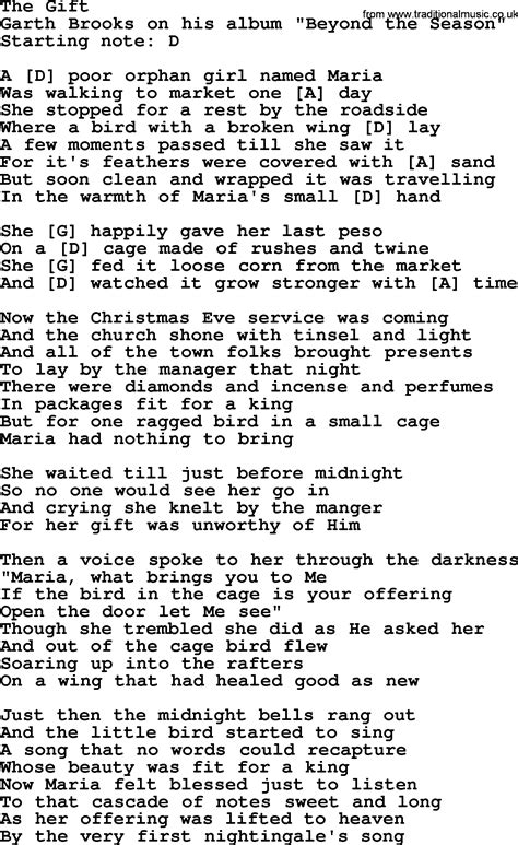 the gift by garth brooks lyrics and chords
