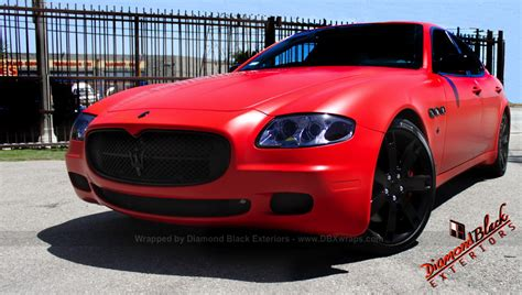 matte orange maserati maserati quattroporte wrapped in matte red by dbx video