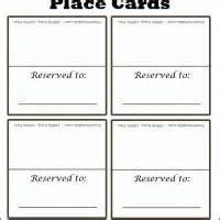 Plain Place Card Template by Simple Plain Place Card