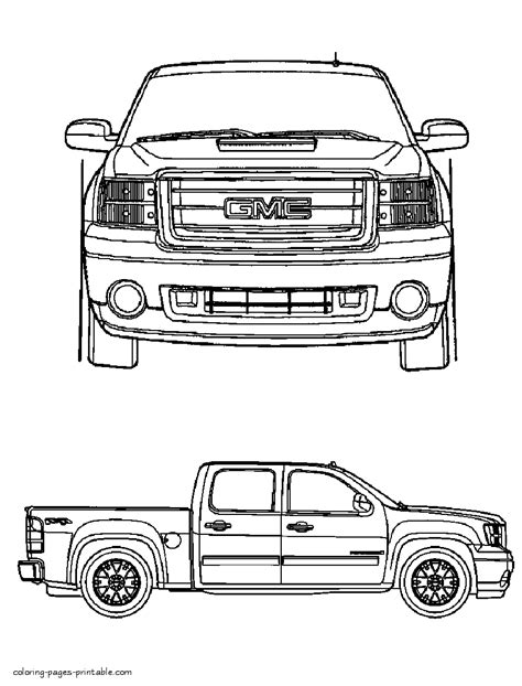 coloring pages gmc truck gmc coloring pages printable gmc best free coloring pages