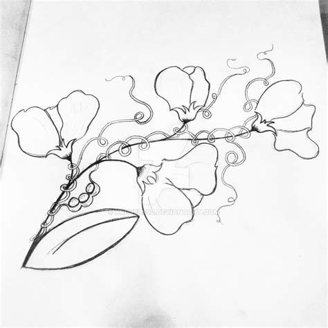 sweet pea flower tattoo designs commissioned sweet pea flower design by krevels92