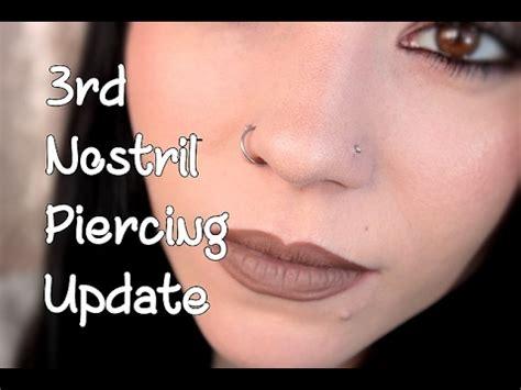 vanit piercing nostril piercing 1 month update piercing bumps