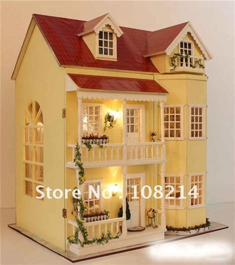 babies doll house diy dollhouse light doll house baby toy wooden dollhouses toy model dollhouse