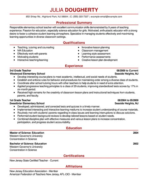Resume Teach Me Resume Sles The Ultimate Guide Livecareer