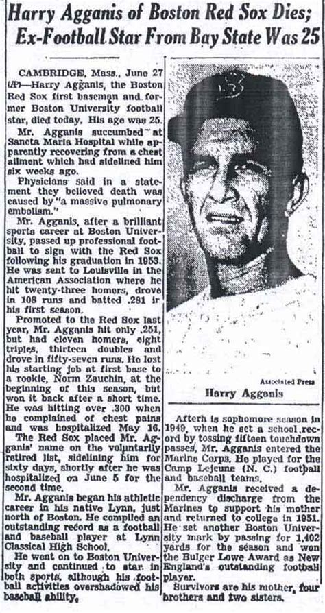 thedeadballeracom hsrry agganis obit