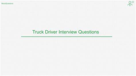 top 10 truck driver questions