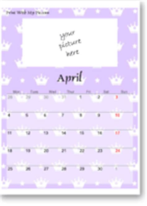 cute calendar templates | add your picture to cute