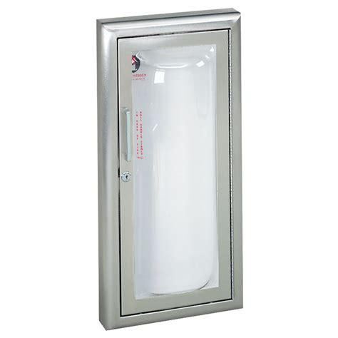 surface mounted extinguisher cabinet jl industries clear vu