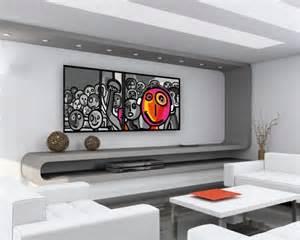 Délicieux Vernir Un Meuble Deja Verni #1: deco-entree-avec-escalier-18-17-id233e-pour-une-grand-tableau-design-mural-du-salon-600x480.jpg